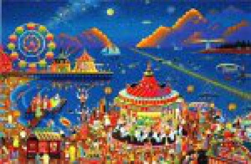 1000 piece Seaside carnival 50X75 panel No.10 Puzzle Japan Import Toy Hobby