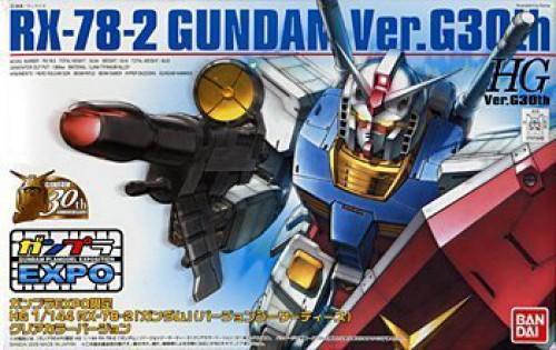 Gunpla Expo Exclusive HG 1 144 RX-78-2 Gundam Ver. G30th Clear color ver. plamo