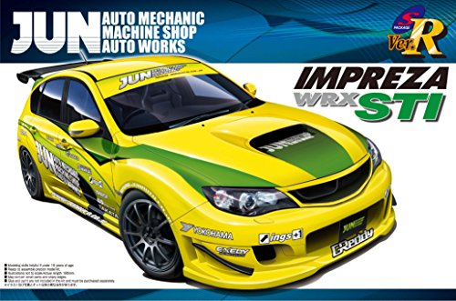 1  24 Subaru GRB Impreza WRX STI 5 Dörr June 2007 plamo japan leksak modelllllerler