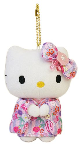 KTx cute mascot standing pink lavender Plush Doll Stuffed Toy Japan Import